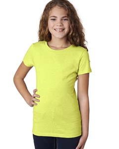 Neon Yellow Girls' Princess CVC T-Shirt