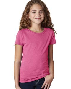 Raspberry Girls' Princess CVC Tee