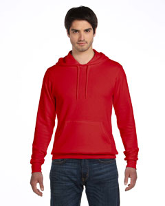 Red Unisex Poly-Cotton Fleece Pullover Hoodie