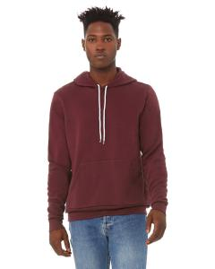 Maroon Unisex Poly-Cotton Fleece Pullover Hoodie