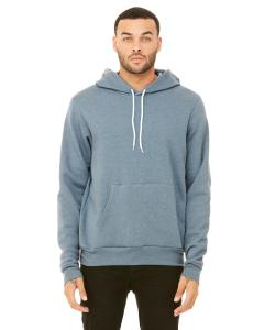 Heather Slate Unisex Poly-Cotton Fleece Pullover Hoodie