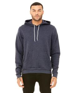Heather Navy Unisex Poly-Cotton Fleece Pullover Hoodie