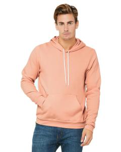 Peach Unisex Poly-Cotton Fleece Pullover Hoodie