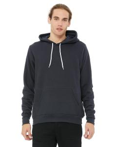 Dark Grey Unisex Poly-Cotton Fleece Pullover Hoodie