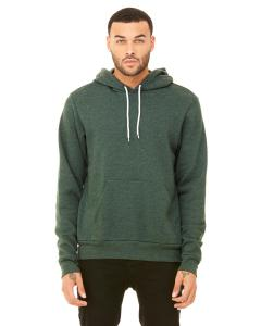 Heather Forest Unisex Poly-Cotton Fleece Pullover Hoodie