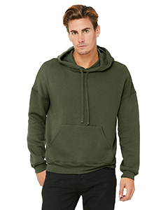 Military Green Unisex Sponge Fleece Pullover Hoodie