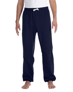 Navy Unisex Fleece Long Scrunch Pant