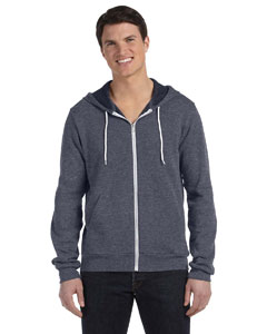 Deep Heather Unisex Poly-Cotton Fleece Full-Zip Hoodie