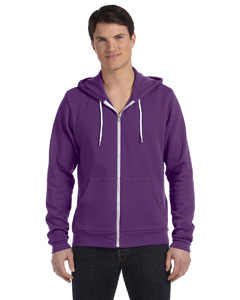 Team Purple Unisex Poly-Cotton Sponge Fleece Full-Zip Hooded Sweatshirt