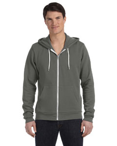 Asphalt Unisex Poly-Cotton Sponge Fleece Full-Zip Hooded Sweatshirt