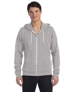 Athletic Heather Unisex Poly-Cotton Sponge Fleece Full-Zip Hooded Sweatshirt