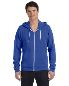 True Royal Unisex Poly-Cotton Sponge Fleece Full-Zip Hooded Sweatshirt