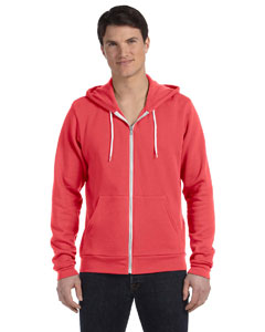 Coral Unisex Poly-Cotton Fleece Full-Zip Hoodie