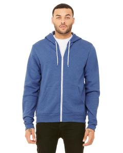 Heather Tru Royl Unisex Poly-Cotton Sponge Fleece Full-Zip Hooded Sweatshirt