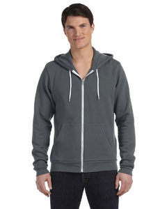 Digital Grey Unisex Poly-Cotton Fleece Full-Zip Hoodie