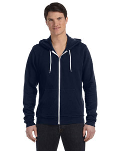 Digital Blue Unisex Poly-Cotton Fleece Full-Zip Hoodie