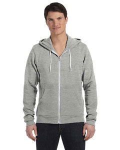 Lt Gry Marble Unisex Poly-Cotton Fleece Full-Zip Hoodie