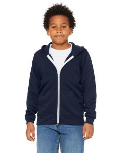 Navy Youth Sponge Fleece Full-Zip Hooded Sweatshirt