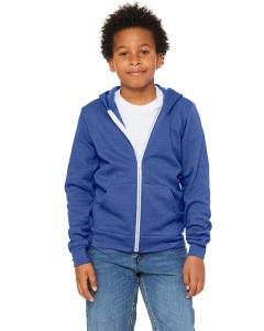 Hthr True Royal Youth Sponge Fleece Full-Zip Hooded Sweatshirt