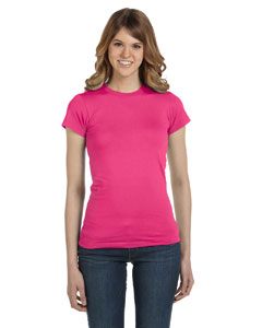 Hot Pink Women's Junior Fit Fashion T-Shirt