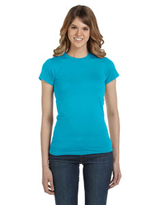 Caribbean Blue Women's Junior Fit Fashion T-Shirt