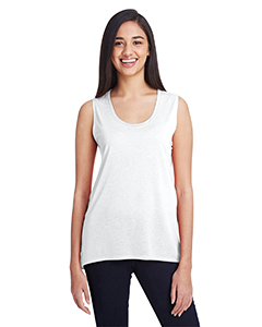 White Ladies Freedom Sleeveless T-Shirt