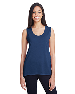 Navy Ladies Freedom Sleeveless T-Shirt