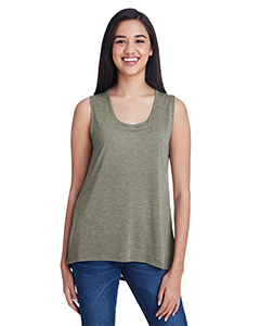 Hthr City Green Ladies Freedom Sleeveless T-Shirt