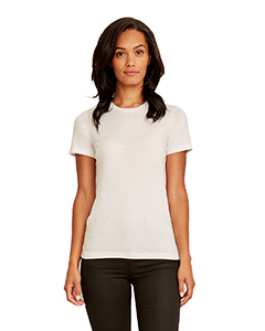 White Ladies' Made in USA Boyfriend T-Shirt