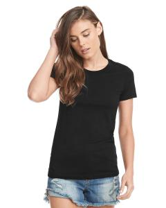 Black Ladies' Made in USA Boyfriend T-Shirt