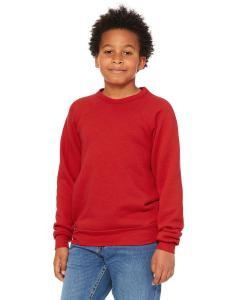 Red Youth Sponge Fleece Raglan Sweatshirt