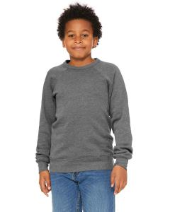 Deep Heather Youth Sponge Fleece Raglan Sweatshirt