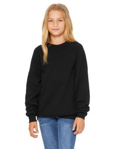 Black Youth Sponge Fleece Raglan Sweatshirt