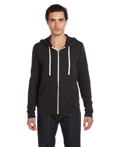 Charcoal Triblend Unisex Triblend Sponge Fleece Full-Zip Hoodie