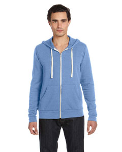 Blue Triblend Unisex Triblend Sponge Fleece Full-Zip Hoodie