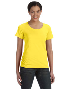 Lemon Zest Women's Sheer Combed Ringspun Scoop T-Shirt
