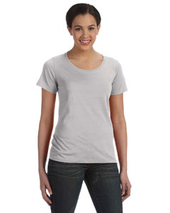 Silver Ladies' Featherweight Scoop T-Shirt
