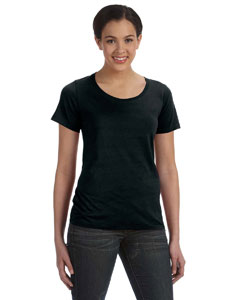 Black Ladies' Featherweight Scoop T-Shirt