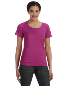Raspberry Ladies' Featherweight Scoop T-Shirt