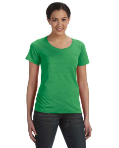 Green Apple Women's Sheer Combed Ringspun Scoop T-Shirt
