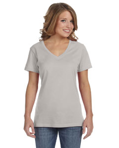 Silver Ladies' Featherweight V-Neck T-Shirt
