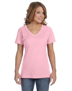 Charity Pink Ladies' Featherweight V-Neck T-Shirt