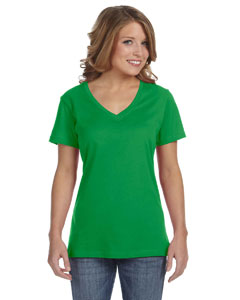 Green Apple Ladies' Featherweight V-Neck T-Shirt