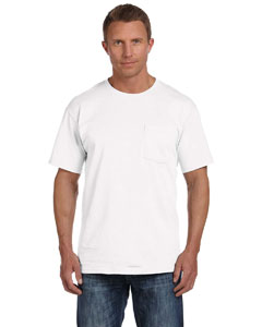 White 5 oz., 100% Heavy Cotton HD® Pocket T-Shirt