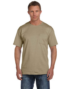 Khaki 5 oz., 100% Heavy Cotton HD® Pocket T-Shirt