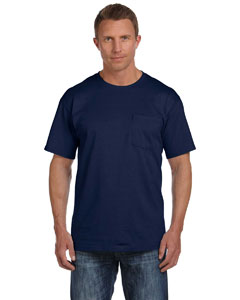 J Navy 5 oz., 100% Heavy Cotton HD® Pocket T-Shirt