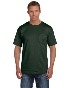 Forest Green 5 oz., 100% Heavy Cotton HD™ Pocket T-Shirt