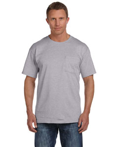 Athletic Heather 5 oz., 100% Heavy Cotton HD™ Pocket T-Shirt