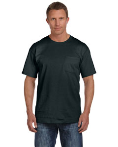 Black 5 oz., 100% Heavy Cotton HD™ Pocket T-Shirt
