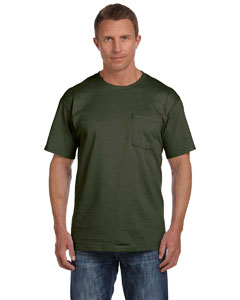 Military Green 5 oz., 100% Heavy Cotton HD® Pocket T-Shirt